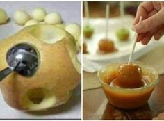 Bite Size Caramel Apples