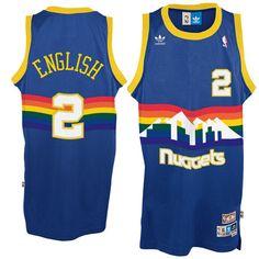 Alex English Vintage 80's Throwback Basketball Jersey - Denver Nuggets