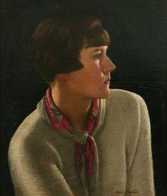 Dod Procter (1890-1972) - Self Portrait  Oil on canvas, 44 x 38cm  Penlee House Gallery & Museum