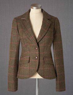 British Tweed Blazer WE396 Jackets at Boden