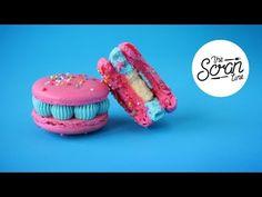 BUBBLEGUM BIRTHDAY CAKE MACARONS- The Scran Line - YouTube