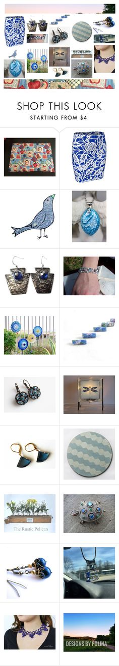 """Blue from the Etsy Perspective"" by cozeequilts ❤ liked on Polyvore featuring Eurø Style, BMW and Nature Home Decor"