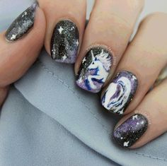 | naileditnz: Unicorn in space nails! I get a...