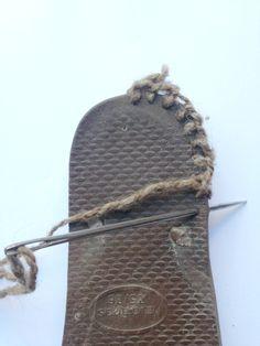 Botas a crochet con suela