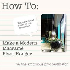 Globes-the ambitious procrastinator: Pinspired By: Macramé Plant Hangers