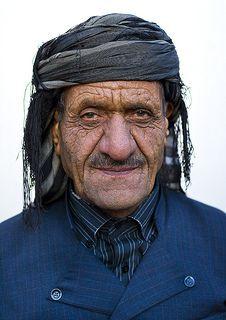 Old Kurdish Man, Marivan, Iran (by Eric Lafforgue)