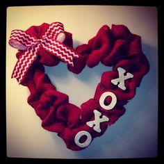 My DIY Valentine's Day wreath!