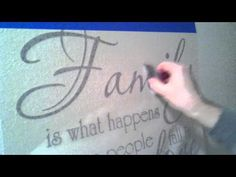 The DOs and DON'Ts of installing vinyl wall decal on a slightly textured wall - YouTube