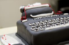 Misery Typewriter cake! Fancy Cakes, Typewriter, Baking, Book, Desserts, Red, Tailgate Desserts, Deserts, Bakken