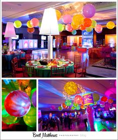 Great Bat Mitzvah decor for a Club theme or Style/Fashion theme