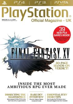 Official #PlayStation Magazine 108. OPM gets up close and hands-on with Final Fantasy XV and brings you a comprehensive guide to the JRPG's chocobo-centric history. This and much more!