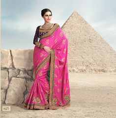 Bombay Bollywood Fashion Week Collection Saree in Pink & Purple
