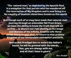 The natural man, as depicted by the Apostle Paul, is a metaphor