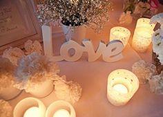Ideas, decoración y manualidades para fiestas: Lindos y decorativos centros de mesa con velas