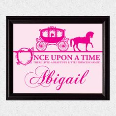 Printable Princess Little Girl Wall Art Storybook by OhCreativeOne, $7.00