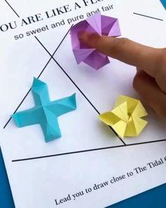 Cool Paper Crafts, Paper Crafts Origami, Creative Crafts, Diy Paper, Origami Paper Folding, Origami Paper Art, Instruções Origami, Origami Videos, Diy Origami Cards