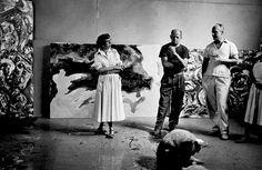 Lee Krasner and Jackson Pollock 1953.