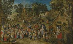 15_Питер Брейгель младший Адский (1564-1638) Невеста духова дня_дерево (дуб) масло