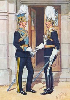 (Duke Of Cambridge) Lancers, Officer & Of India) Lancers, Officer 1912 by Bryan Fosten Military Costumes, Military Dresses, Military Uniforms, British Army Uniform, British Uniforms, Military Art, Military History, Bengal Lancer, Military Pictures