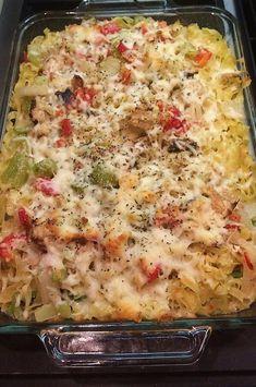 Chicken Asparagus Casserole Recipe, Asparagus Recipe, Chicken Casserole, Pasta Recipes, Chicken Recipes, Dinner Recipes, Cooking Recipes, Hotdish Recipes, Fresh Asparagus