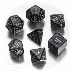 Dungeons And Dragons DND Dice Set Polyhedral Dice Set Pathfinder Carrion Crown #QWorkshopGames #Vintage