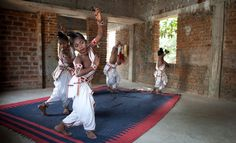 The Gotipua Dance Ensemble, a troupe of boy dancers, in the eastern state of Orissa, India