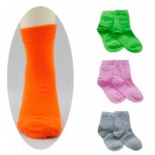 6 pares/1 lote primavera & outono doce cor de algodão meias crianças meninos meias/meias para meninas 1-9 ano crianças desporto meias(China (Mainland))