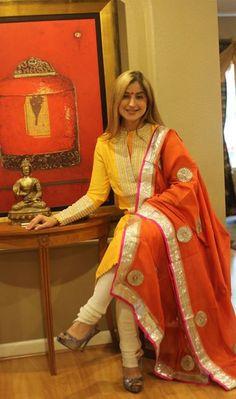 love the combo Designer Punjabi Suits, Indian Designer Wear, Stylish Suit, Stylish Dresses, Salwar Dress, Anarkali, Indian Attire, Indian Ethnic Wear, Indian Style