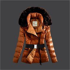 sale Damen Daunenmantel Moncler Mit Fellkragen Orange M1101 Moncler Billige online shop österreich