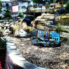 Train scape at the Gaylord Texan Resort Photo by redishd • Instagram