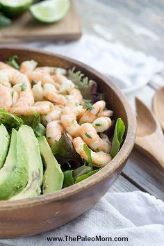 Shrimp and Avocado Salad | www.ThePaleoMom.com #Paleo