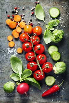 Fresh organic vegetables by klenova  IFTTT 500px salt agriculture background basil black blackboard carrot chalkboard collection compos