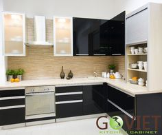 Find This Pin And More On T B P G Acrylic Small Modern L Shaped Kitchen Design