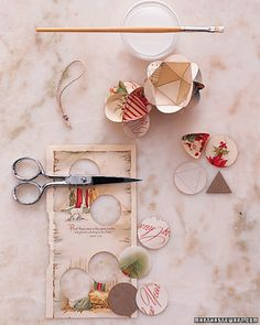 Make Holiday Greeting Card Ornaments ~ Time consuming ~ but you get what you put into it ~ Tutorial: Click on photo!  FYI Tip: You can also do this with copies of photographs.