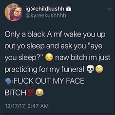 ✨FOLLOW @PINNERXSKY FOR THA BEST PINS ‼️✨ Funny Black Memes, Funny Memes Images, Twitter Quotes Funny, Funny Relatable Quotes, Stupid Funny Memes, Funny Tweets, Tweet Quotes, Funny Facts, Funny Humor