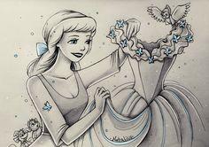 New dress for Cinderella by natalico on DeviantArt