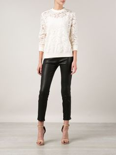 Givenchy Floral Lace Sweater - Capitol - Farfetch.com
