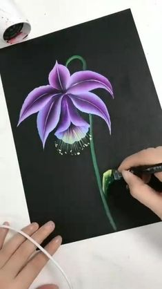 Canvas Painting Tutorials, Diy Canvas Art, Painting Techniques, Painting Flowers Tutorial, Flower Painting Canvas, Painting Art, Art Drawings Sketches Simple, Flower Art, Watercolor Art