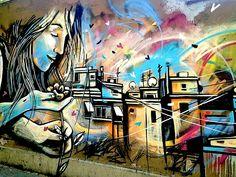 Street Art NYC in Romes San Lorenzo Neighborhood: Alice Pasquini, C215, Solo, Broken Fingaz, Above and more