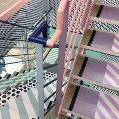 painted fire escape, #DIY paint job, inspiring steps
