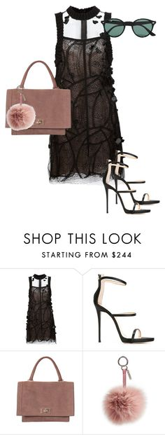 """#10"" by caitbrookexo on Polyvore featuring Vera Wang, Giuseppe Zanotti, Givenchy, Fendi and Ray-Ban"