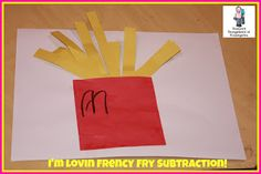 A fun and very engaging math subtraction idea!  FRENCH FRIES!  A Kindergarten Smorgasboard of French Fry Subtraction!
