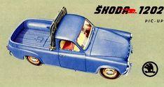 Skoda 1201 Pic-Up - depliant Retro Cars, Vintage Cars, Advertising History, Mini Trucks, Classic Motors, Car Posters, Car Painting, Small Cars, Volvo