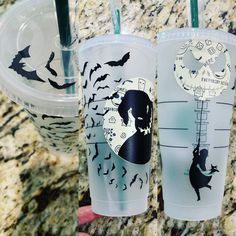disney cups Disney Nightmare Before Christmas Starbucks Reusable Cold Venti Cup Oogie Boogie Jack Skellington Sally Zero Hand wash only Cold drinks Only Comes with lid and green stra