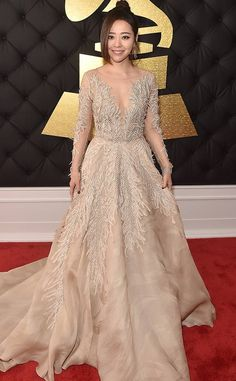 Jane Zhang from Grammys 2017 Red Carpet Arrivals