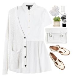 """""""Take shelter"""" by annaclaraalvez ❤ liked on Polyvore featuring Steffen Schraut, Marc by Marc Jacobs, The Cambridge Satchel Company, Kristin Cavallari, rag & bone, Off-White, McCoy Design and Aesop"""