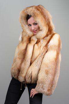 Red Fox Fur Hoodie