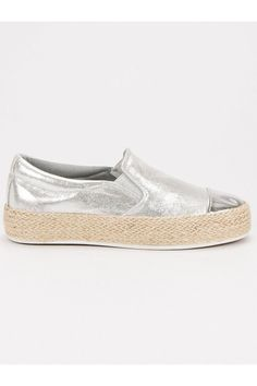 Strieborné tenisky slip on CnB Vans Classic Slip On, Sneakers, Shoes, Fashion, Tennis, Moda, Slippers, Zapatos, Shoes Outlet