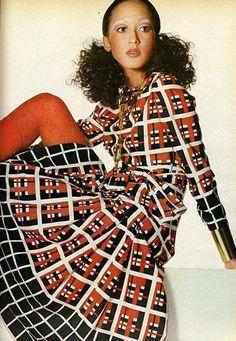 1970s fashion had alot of geometric shapes designed on them