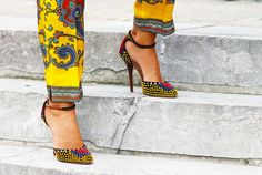 Street Style at Couture Fashion Week, Vionnet shoes